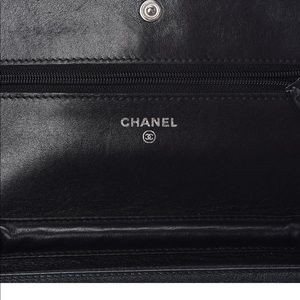 CHANEL Timeless CC Wallet On Chain Caviar Black